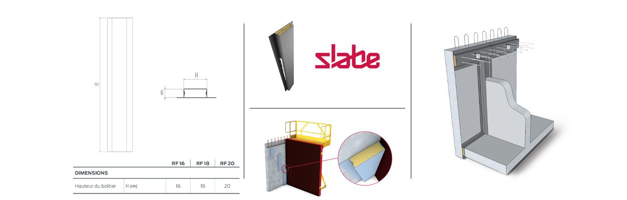 Découvrez toutes les caractéristiques du rupteur de ponts thermiques de refend Slabe RF.
