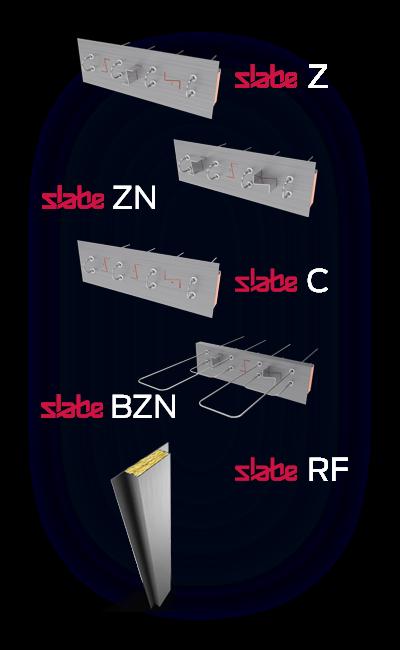 Découvrez l'ensemble de la gamme de rupteurs de ponts thermiques statiques Slabe.