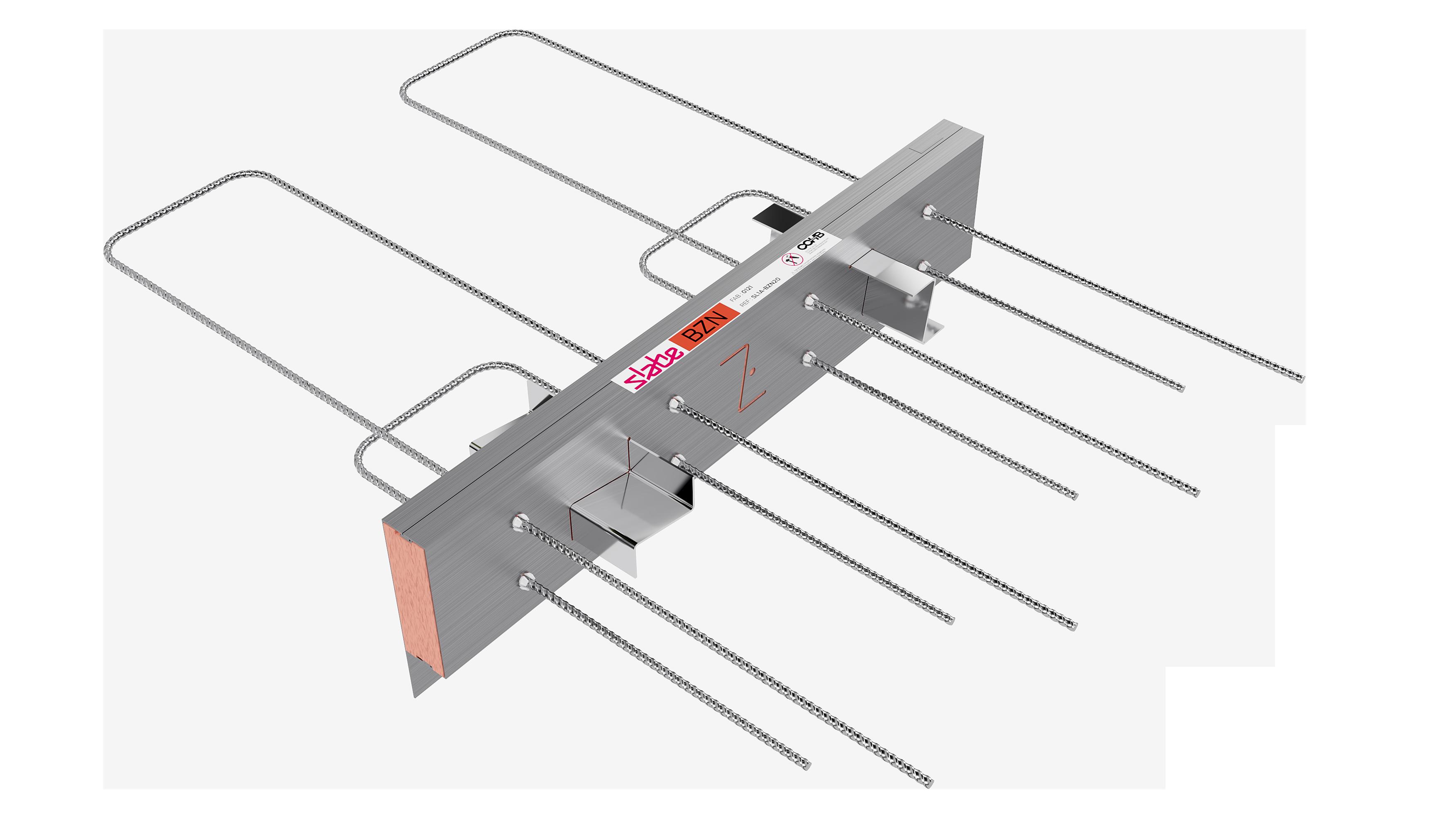 Le rupteur de ponts thermiques de balcons Slabe BZN s'adapte à vos projets en ITI.