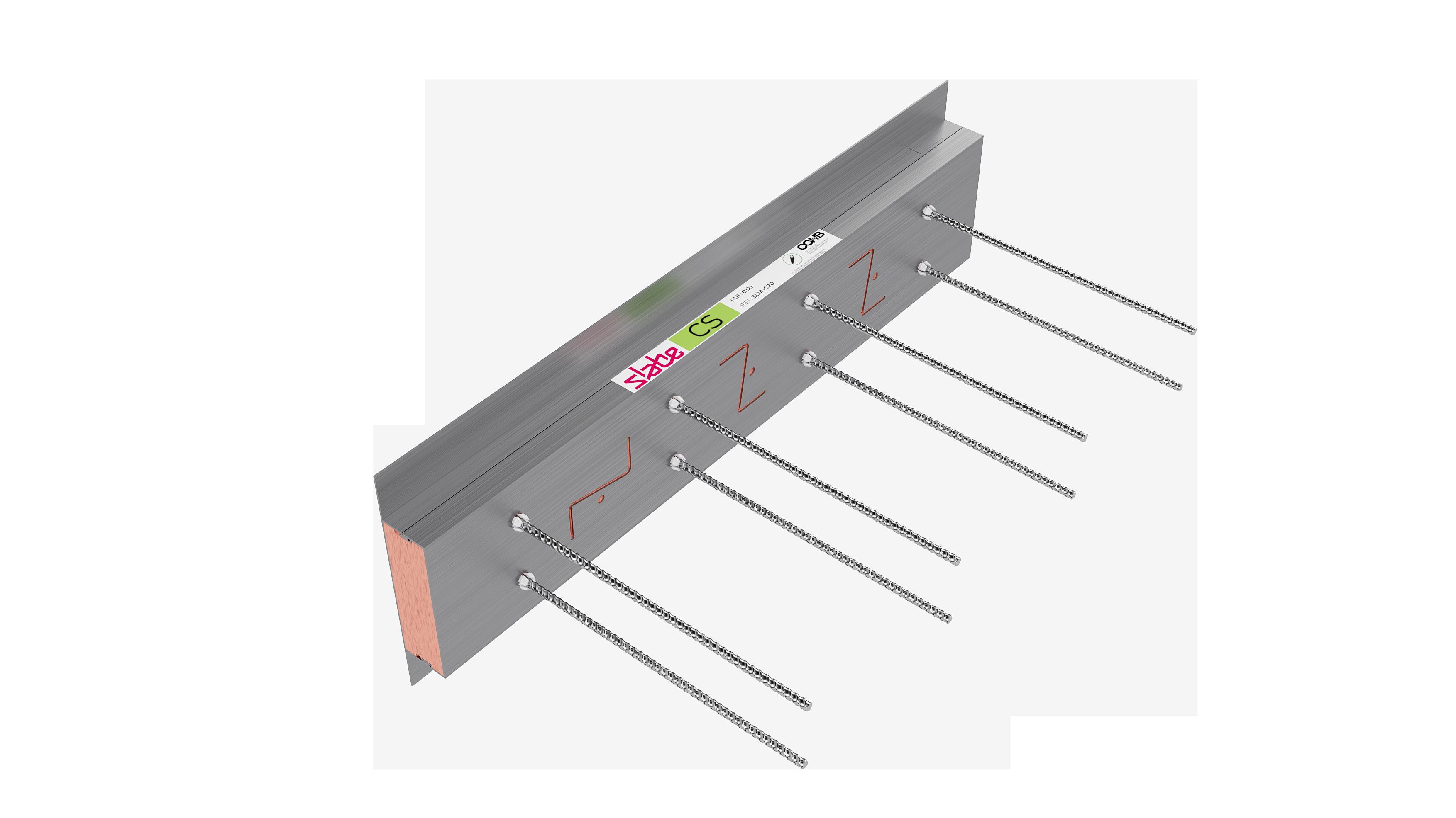Le rupteur thermique parasismique Slabe CS est un rupteur de compensation qui vient compléter un linéaire de rupteurs Slabe ZNS.