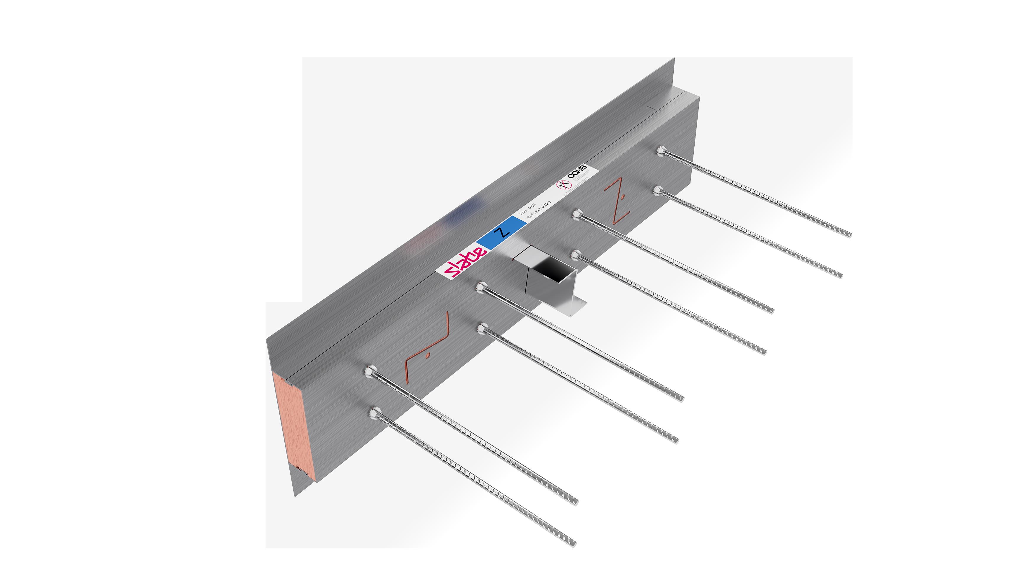 Le rupteur de ponts thermiques Slabe Z est la solution pour répondre aux exigences de la RT 2012.