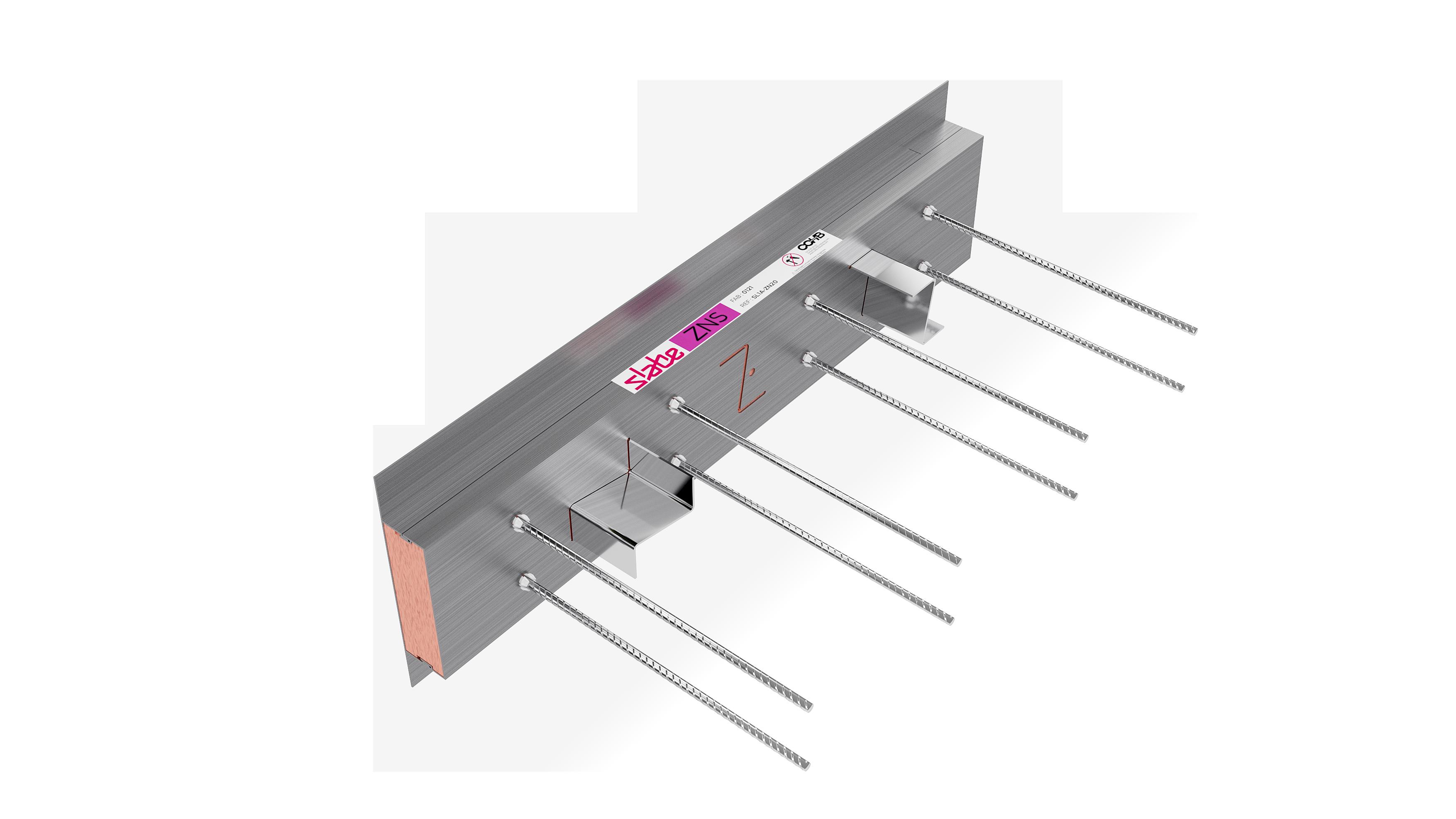 Le rupteur de ponts thermiques parasismique de liaison plancher-façade Slabe ZNS est le plus puissant de sa catégorie.